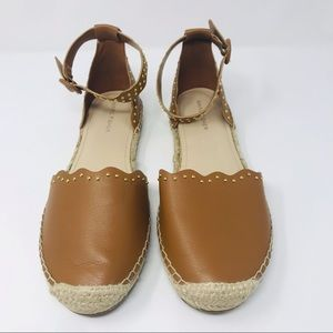 Marc Fisher Jarquis Brown Espadrille Sandal Flats